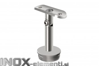 INOX Cevni nosilec 42.4 gibljiv / satiniran