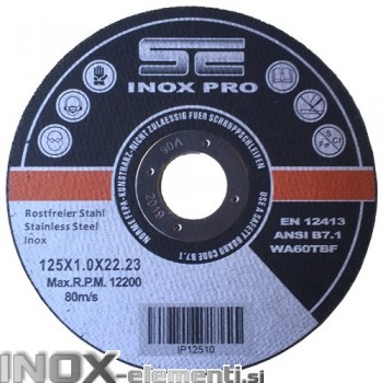 SE INOX PRO 125x1,0x22,23mm