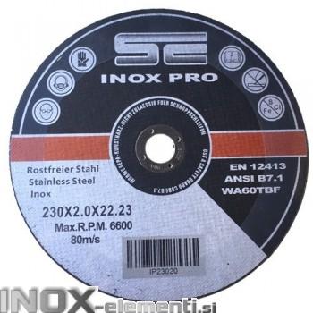 SE INOX PRO 230x2,0x22,23mm rezalna plošča