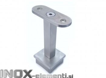 INOX Cevni nosilec 40x40 fixen D14x14 / satiniran AISI304
