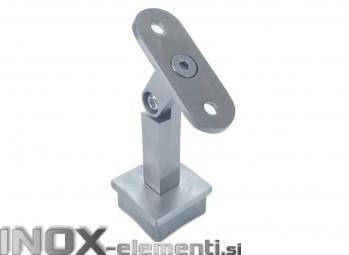 INOX Cevni nosilec 40x40 gibljiv D14x14 / satiniran AISI304