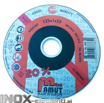 Rezalna plošča 125X1X22 INOX / JEKLO