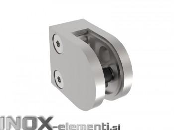 INOX Nosilec stekla 00 polirano 40x50mm AISI304