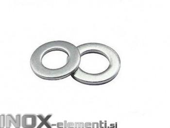 INOX Podložka M10 navadna D125 / A2, 100kos