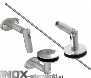 INOX Sistem nadstreška M12 SET