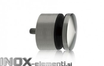 INOX Nosilec stekla okrogel točkovni / satiniran 0104S