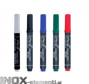 Marker okrogle konice perm. 1-4mm različnih barv