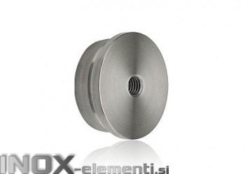 INOX Zaključni čep 42.4-M8 raven / satiniran