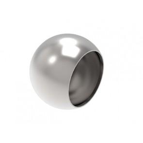 INOX Zaključna krogla 55x42 slepa / satinirana