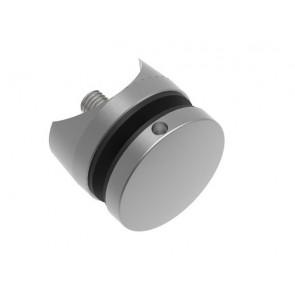 INOX Nosilec stekla okrogel točkovni 42,4 50x10x10 / satiniran 0104S