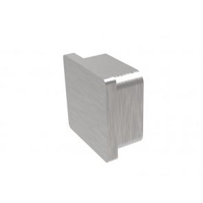 INOX Zaključni čep 40x40x2 raven / satiniran AISI304