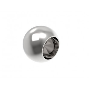 INOX Zaključna krogla 12x20 slepa / polirana