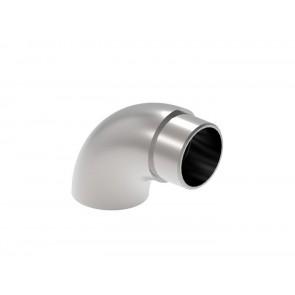 INOX Zaključni lok cevi 42,4, raven / poliran