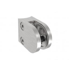 INOX Nosilec stekla 42.4 polkrožen / satiniran 40x50mm