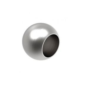 INOX Zaključna krogla 16x25 slepa / satinirana