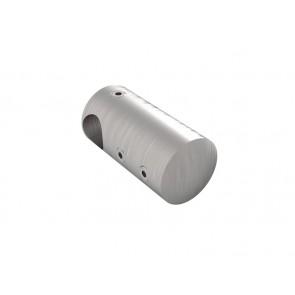 INOX Prečni nosilec vertikalni 12 / satiniran za cev 12
