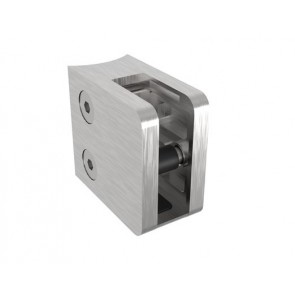INOX Nosilec stekla 42.4 satiniran 45x45mm + varovalo AISI304 12SV