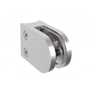 INOX Nosilec stekla 42.4 polkrožen / satiniran 45X63mm AISI304 11.5S